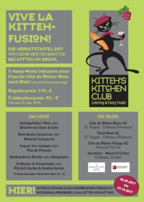 CÔTES DU RHÔNE-MENÜ HERBSTSTAFFEL 2017 @ Kitteh´s Kitchen Club | Brühl | Nordrhein-Westfalen | Deutschland