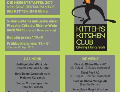 Welch eine Ehre ! Kitteh und die Herbststaffel 2017 von Dine-Restaurant.de