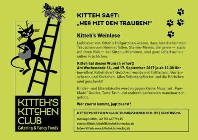 """KItteh sagt: """"Weg mit den Trauben"""" Kitteh's Weinlese @ Kitteh´s Kitchen Club   Brühl   Nordrhein-Westfalen   Deutschland"""